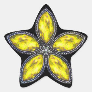 Jeweled Star - Yellow Star Sticker