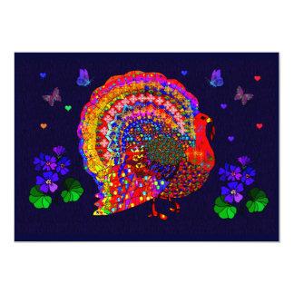 """Jeweled Turkey 5"""" X 7"""" Invitation Card"""