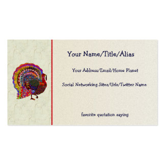 Jeweled Turkey Pack Of Standard Business Cards