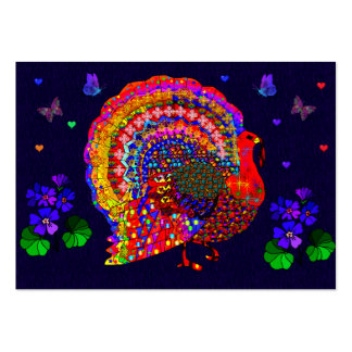 Jeweled Turkey Pack Of Chubby Business Cards