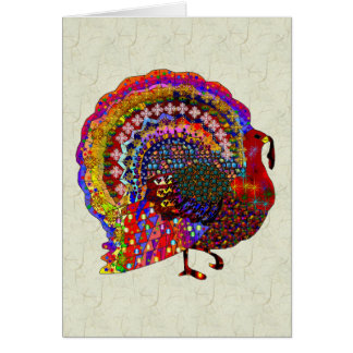 Jeweled Turkey Card
