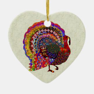 Jeweled Turkey Christmas Ornament