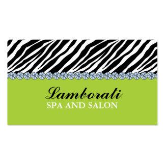 Jeweler Jewelry Zebra Print Diamond Green Pack Of Standard Business Cards