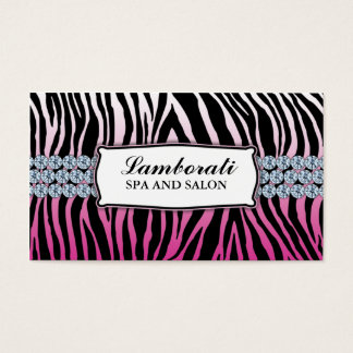 Jeweler Jewelry Zebra Print Diamond Sparkle Business Card