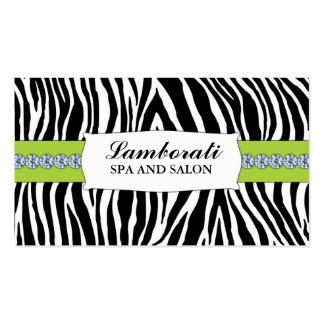 Jeweler Jewelry Zebra Print Diamond Sparkle Business Card Template