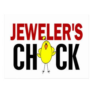 JEWELER'S CHICK POSTCARD