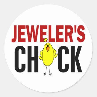 JEWELER'S CHICK ROUND STICKERS