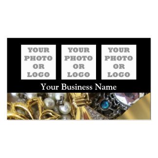Jewelery pattern company logo pack of standard business cards