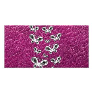 Jewell Butterflies Custom Photo Card