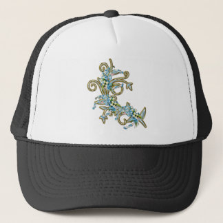 jewell flowers trucker hat