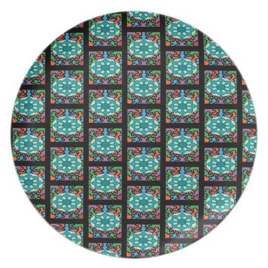 Jewelled Aqua Plate