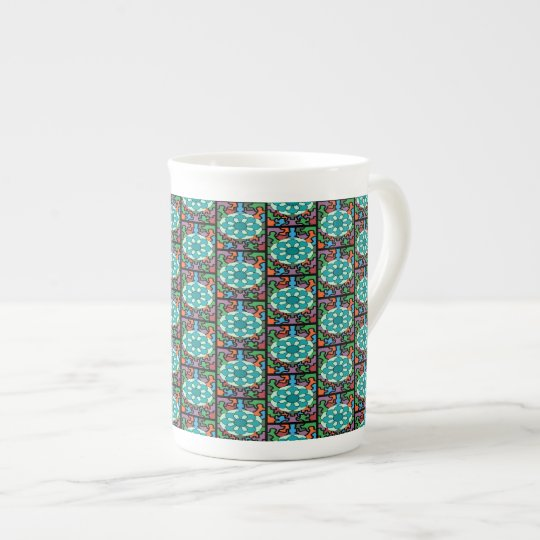 Jewelled Aqua Tea Cup