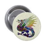 Jewelled Dragon 6 Cm Round Badge