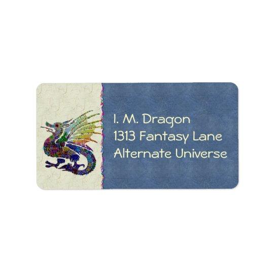 Jewelled Dragon Address Label