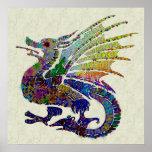Jewelled Dragon Poster