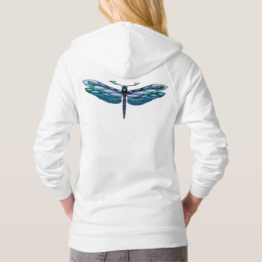 Jewelled Dragonfly Fleece Pullove Hoodie