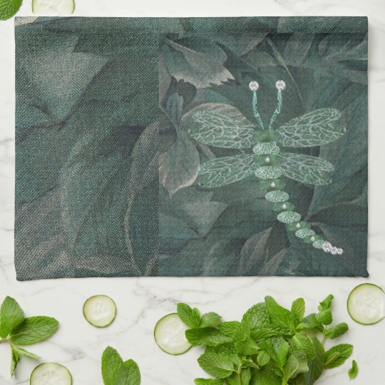 Jewelled Dragonfly Tea Towel