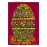 Jewelled Easter Egg Greeting Card