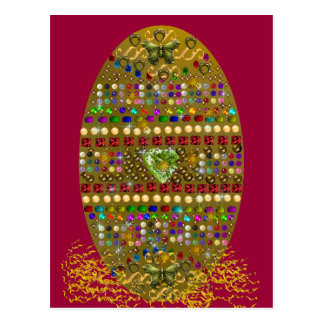 Jewelled Easter Egg Post Cards