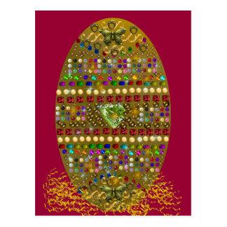 Jewelled Easter Egg Postcard