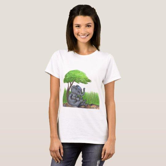 Jewelled Elephant Princess Queen T-Shirt