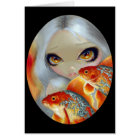 """""""Jewelled Fish:  Silver and Gold"""" Greeting Card"""