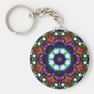 Jewelled Kaleidoscope 28 Basic Round Button Key Ring