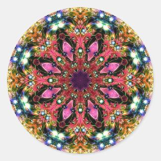 Jewelled Kaleidoscope 31 Classic Round Sticker