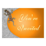 Jewelled Lizard Party Invitation