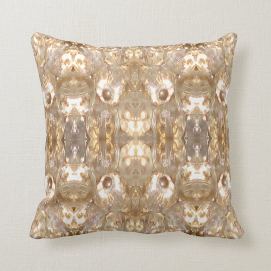Jewelled Modern Pillow-Home Decor-Gold/White/Grey Cushion