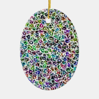 Jewelled mosaic ceramic oval decoration