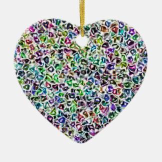 Jewelled mosaic christmas ornament