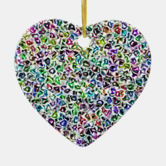 Jewelled mosaic ceramic heart decoration