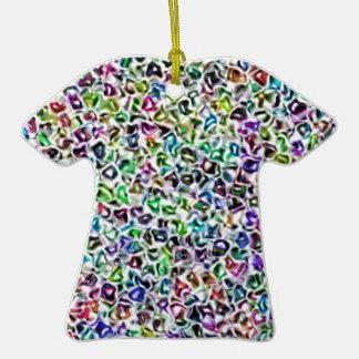 Jewelled mosaic ceramic T-Shirt decoration