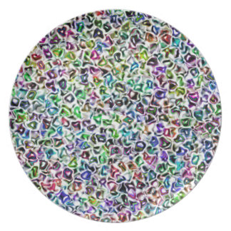 Jewelled mosaic plate
