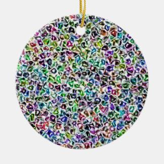 Jewelled mosaic round ceramic decoration