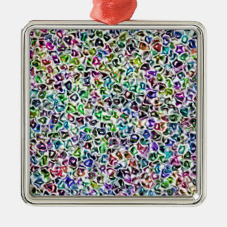 Jewelled mosaic Silver-Colored square decoration