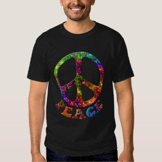 Jewelled Peace Dark Shirts