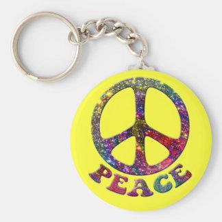 Jewelled Peace Keychain