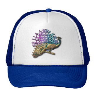 Jewelled peacock cap