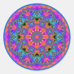 Jewelled Rainbows 10 Sticker Round Sticker