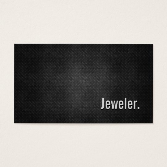 Jeweller Cool Black Metal Simplicity Business Card
