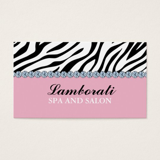 Jeweller Jewellery Zebra Print Diamond Sparkle Business Card
