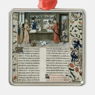 Jeweller's Shop, from Lapidaire de Mandeville Silver-Colored Square Decoration