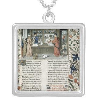Jeweller's Shop, from Lapidaire de Mandeville Silver Plated Necklace