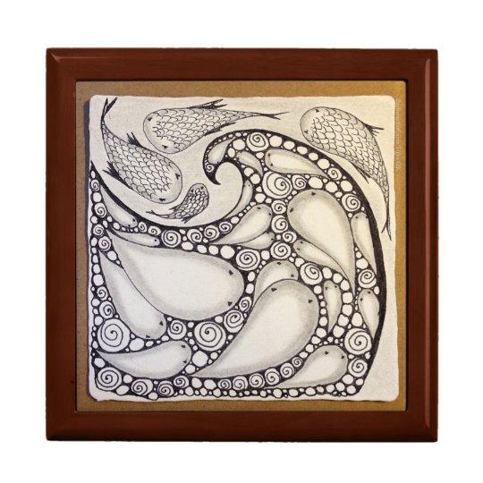 "Jewellery Box ""Fish Wave"" Original Art"