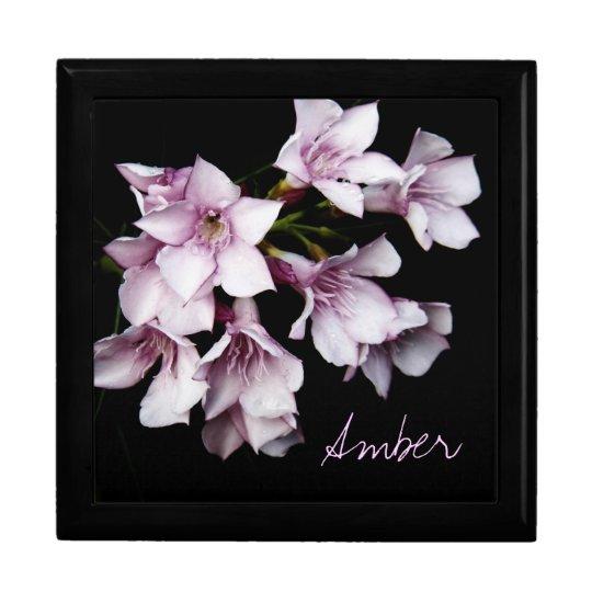 Jewellery Box - Pink Oleander