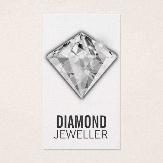 Jewellery Business Cards Diamond Platinum