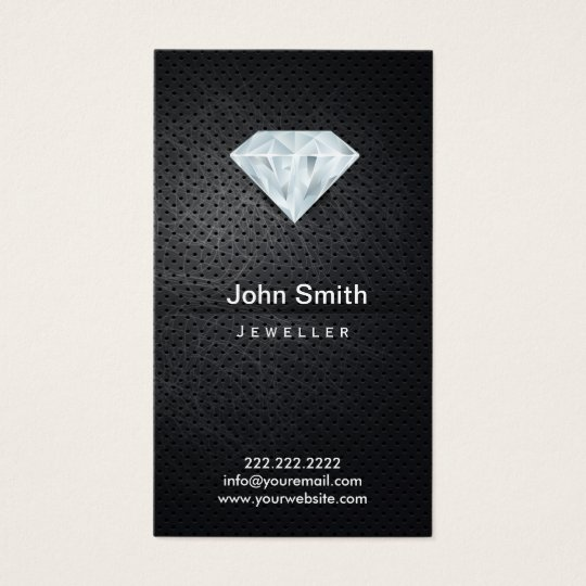 Jewellery Dark Metal & Diamond Business Card