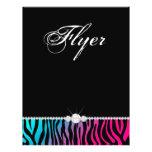 Jewellery Flyer Hair Salon Zebra Pink Blue Purple